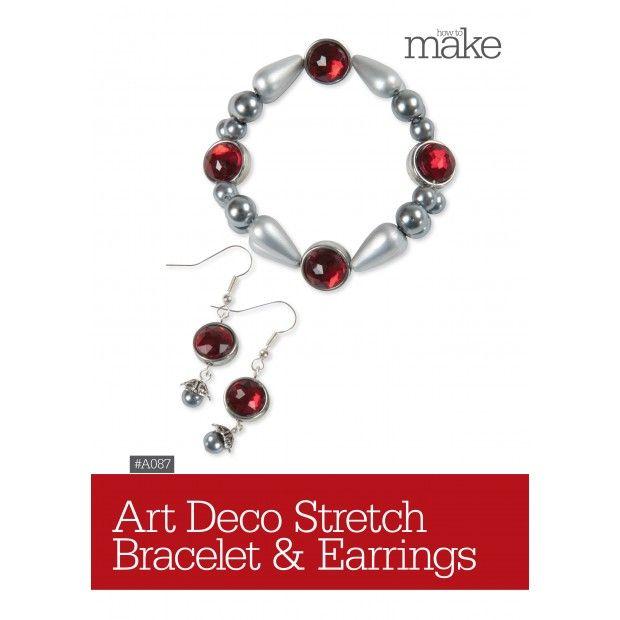 Art Deco Stretch Bracelet & Earrings-
