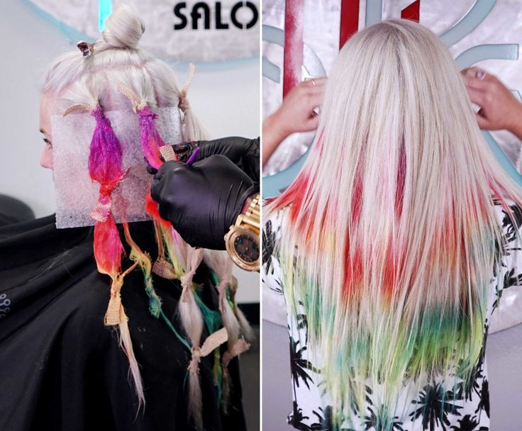Tie-Dye Hair Is the New Hair Color Trend You Have to See - Cosmopolitan.com