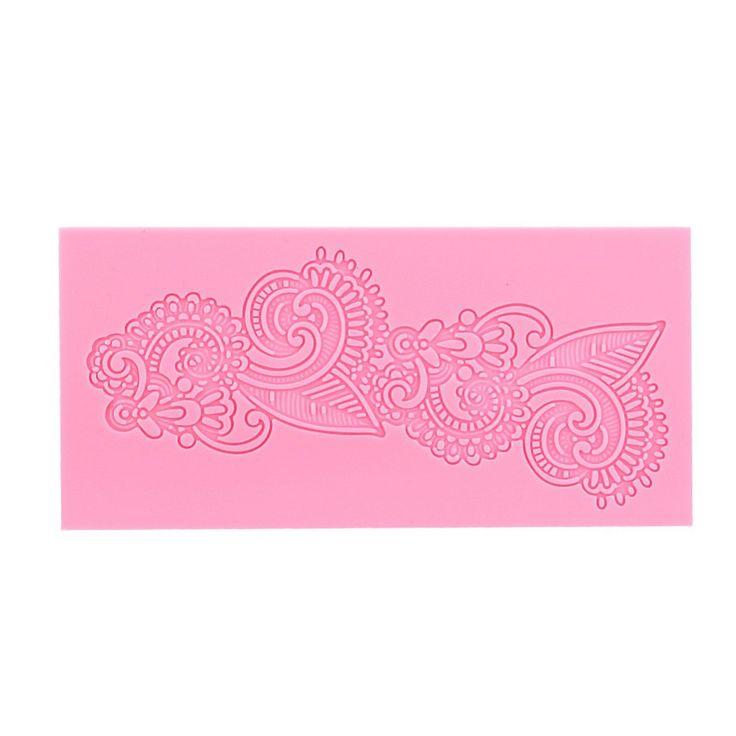 Silicone Paisley Lace Fondant Craft Mould