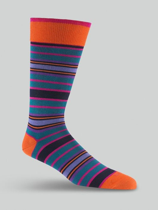 The Duchamp IVY STRIPE SOCK in OCEAN. Luxury Socks   Designer Socks   Men's Accessories.   Duchamp London
