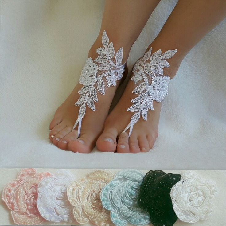 Beach Weddings Lace Barefoot Sandals Bridesmaids Gift Bridal Jewelry Wedding Shoes Steampunk Bangle Free Ship Accessories Handmade
