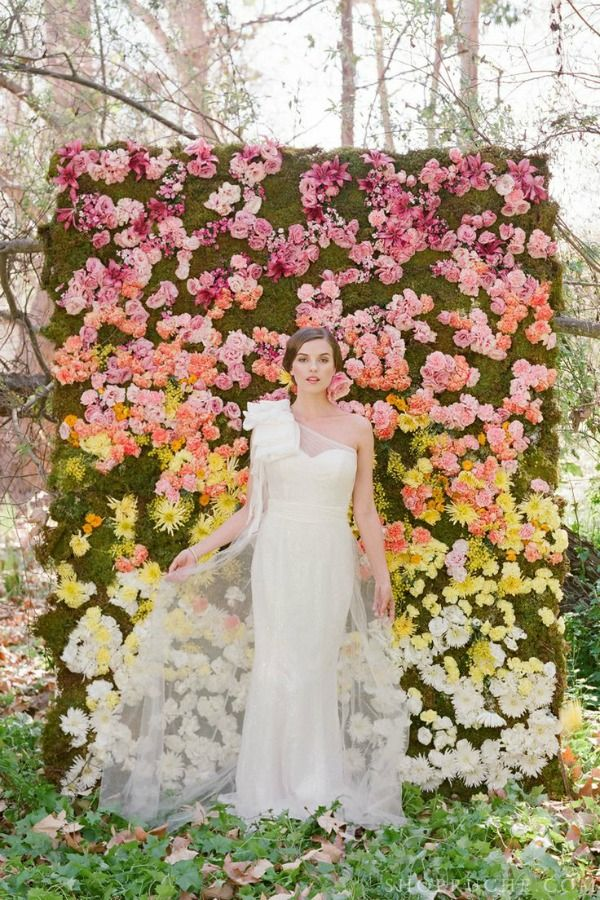 Love flower walls! Great for family and friends to pose and take pictures to always have for memories! For me must have
