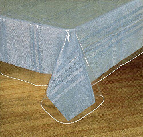 60x120 Heavy Duty Clear Vinyl Tablecloth Plastic Table Cover Spills Protector US #SOFINNI