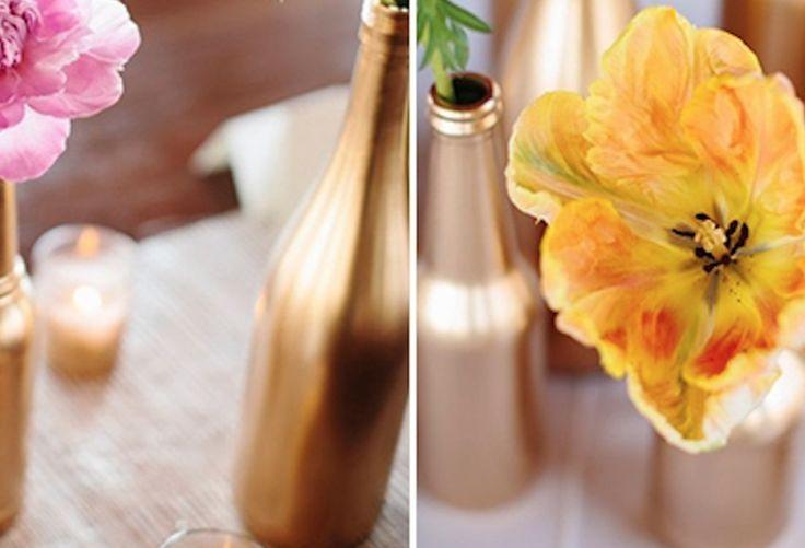 DIY   Feest tafel idee – Schilder zelf vazen en flessen