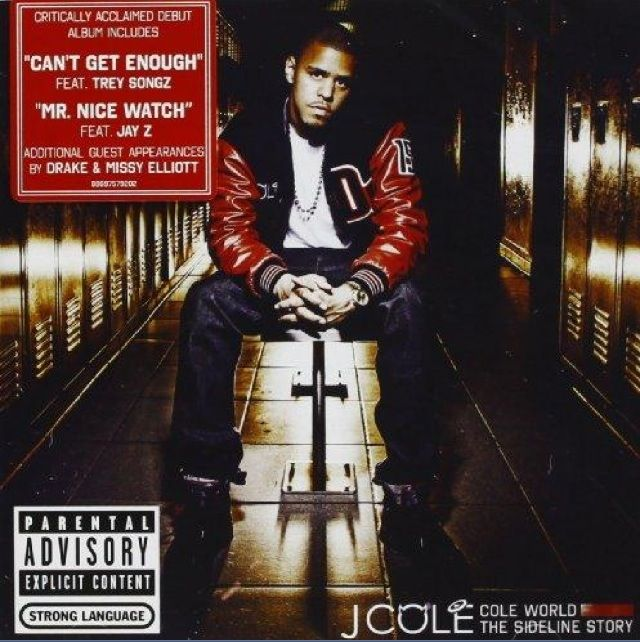 """J. Cole- Cole World: The Sideline Story Parental Advisory- Explicit Content: Strong Language Critically acclaimed debut album includes: ~""""Can't Get Enough""""- by TreySongz ~""""Mr. Nice Watch"""" - featuring Jay Z   Additional guest appearances: ~Drake ~Missy Elliott"""