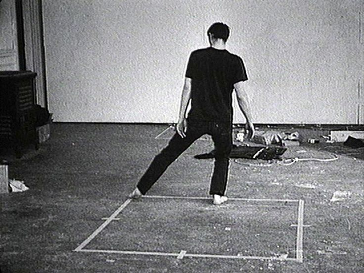 Bruce Nauman, Dance or Excercise on the Perimeter of a Square, 1967