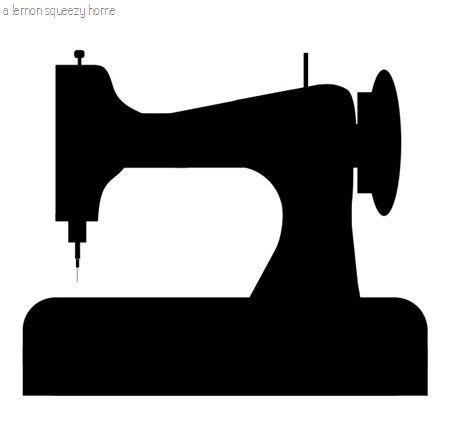 Stitching Machine Silhouette Graphic: Free Obtain