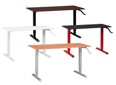noise areas linear office actuator desk business ergonomic desks low with application systems
