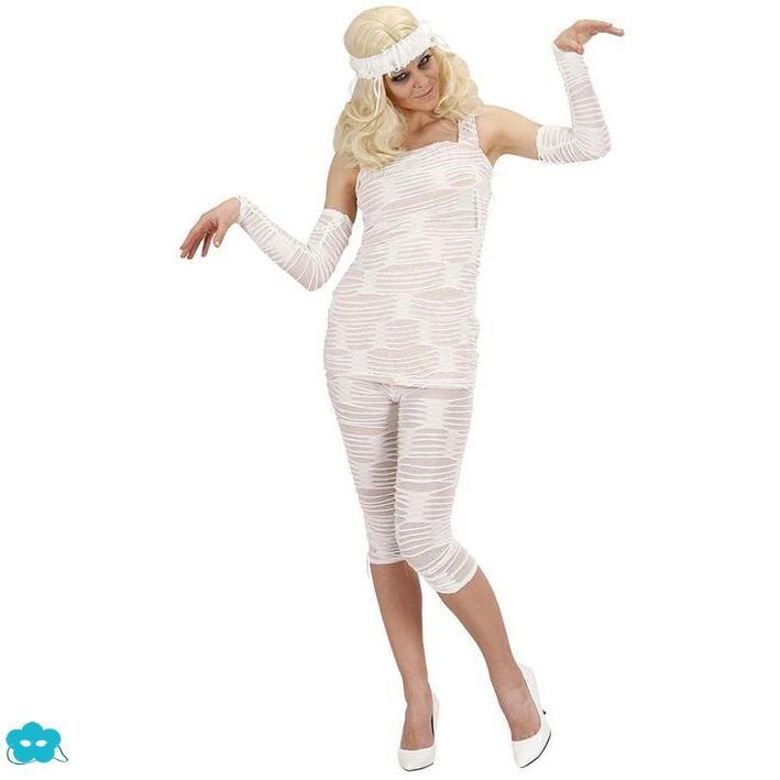Disfraz de momia fashion para mujer