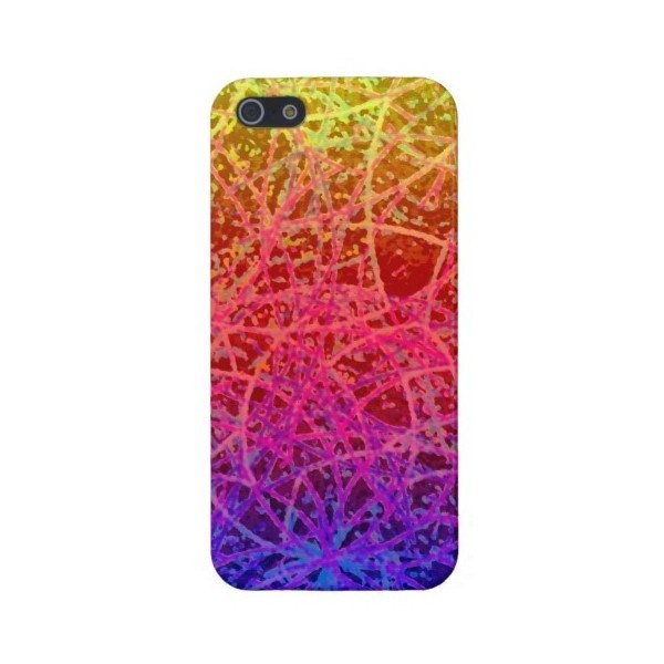 iPhone 5 Case Savvy Informel Art Abstract ($36) found on Polyvore