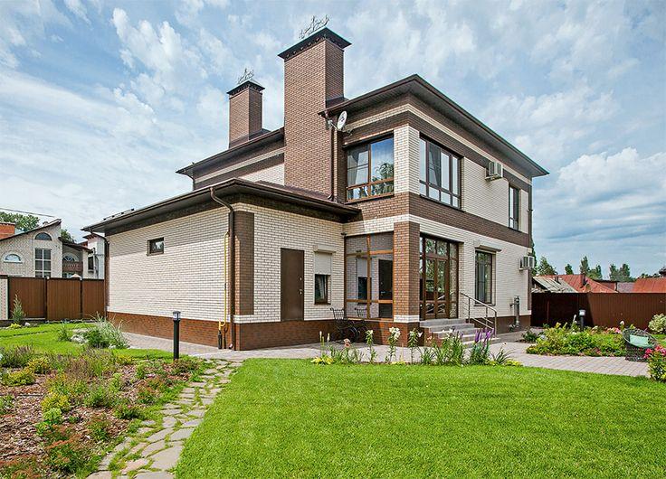 Коттедж со сложной объемно-пространственной структурой | Архитектурные проекты | Журнал «Красивые дома»