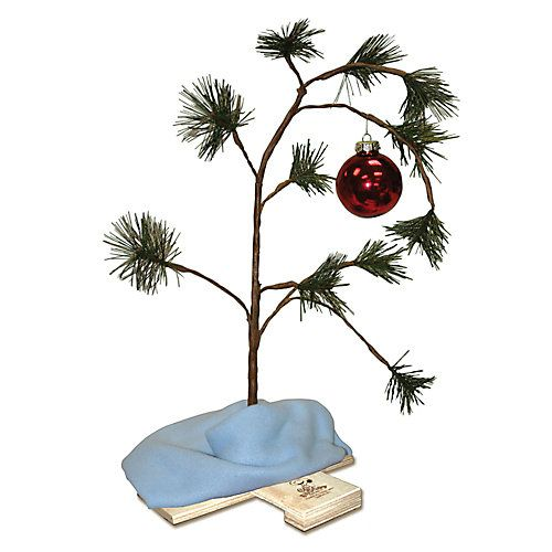 The Peanuts Charlie Brown Christmas Tree has become one of the most recognizable and heart-warming holiday icons. With its wilted branch and single ornament, finished with Linus blanket as the tree skirt, playing the classic Peanuts theme song, all you need to add is love. This tree will bring the true spirit of Christmas to your holiday season.