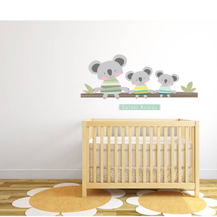 Cutest koalas fabric wall stickers by littleprints notonthehighstreet com
