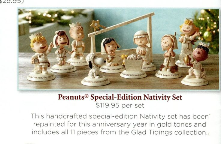 new for 2015 peanuts special edition nativity set