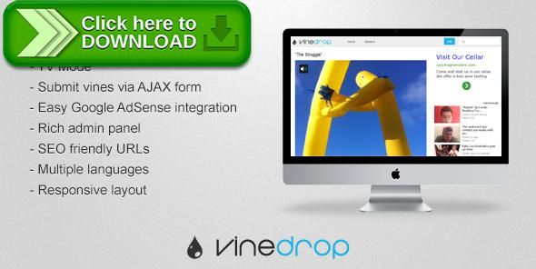 [ThemeForest]Free nulled download Vinedrop from http://zippyfile.download/f.php?id=56800 Tags: ecommerce, best vines, funny videos, six second videos, vine, vine platform, vinescope