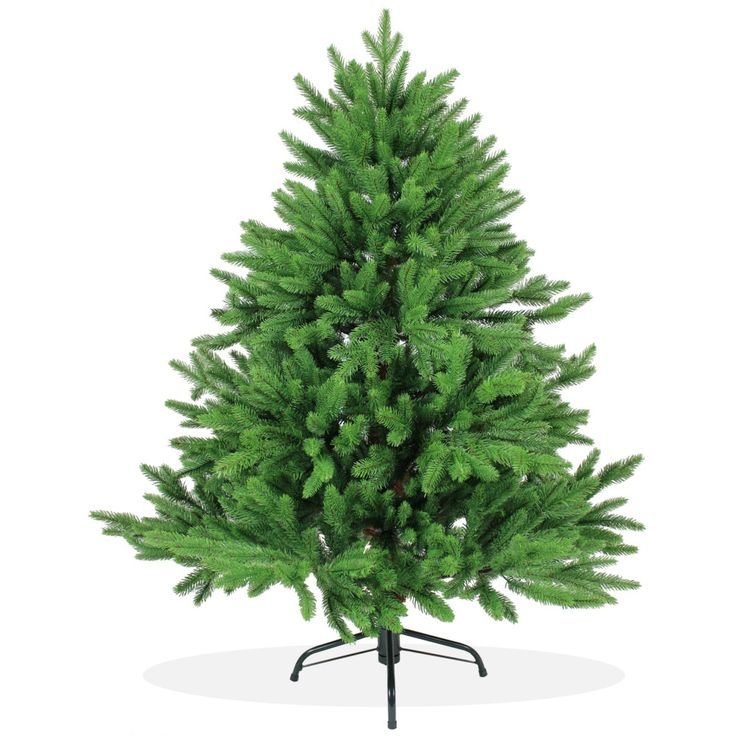 Künstlicher Weihnachtsbaum 120cm DeLuxe PE Spritzguss, grüner Tannenbaum Nordmanntanne, Christbaum