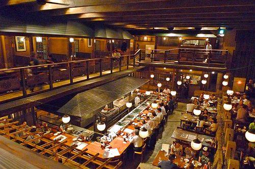 Gonpachi, the restaurant that inspired the crazy 88's fight scene in Kill Bill.