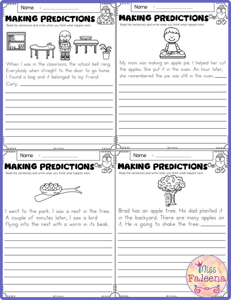 September Making Predictions Contains With Total 30 Pages Of Making Prediction Worksheets This Making Predictions 2nd Grade Worksheets Kindergarten Worksheets Predictions worksheets 1st grade