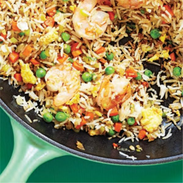 This shrimp fried rice recipe is quick to make and super tasty.