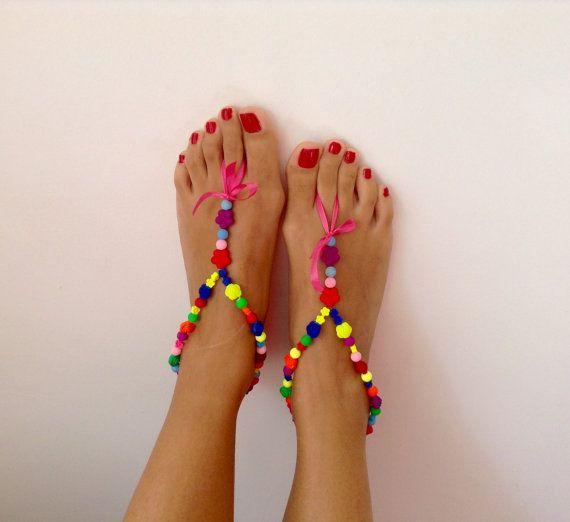 NEW NEW NEW! Barefoot Sandals wedding  Bikini  Women  Beach  by TSColorfulWorld