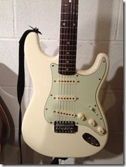 The Fender Squier Stratocaster guitar upgrade is complete!