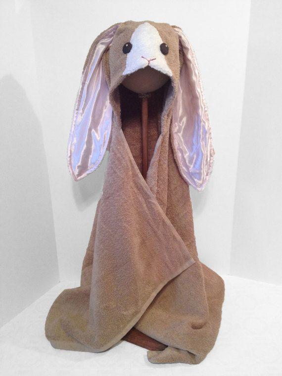 Bunny Rabbit Hooded Bath Towel Hooded Bath Towels Hoods Towel