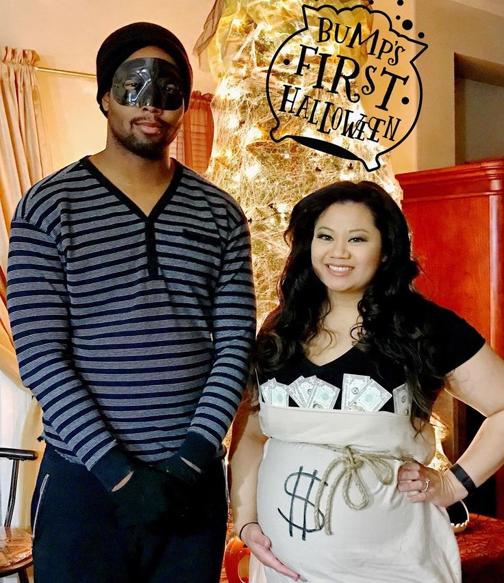 Inspiration & Accessories: DIY Bank Robber Burglar Maternity Pregnancy Halloween Couple Costume Idea