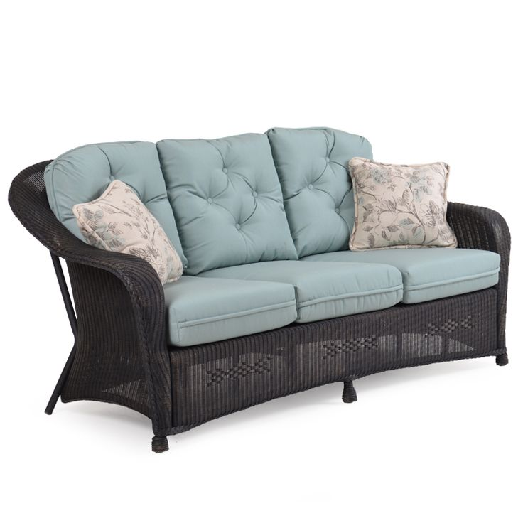 Hampton Outdoor Wicker Sofa Antique Black   Leaders Casual Furniture. Black  LeadersCalifornia GardenSanta Rosa ... Part 41