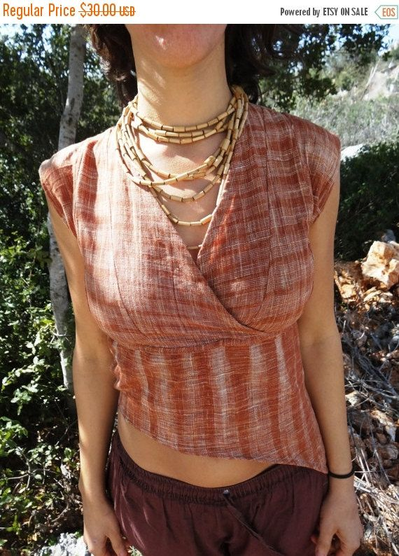 Tribal Top Khadi Cotton by PrimitiveTribalCraft on Etsy