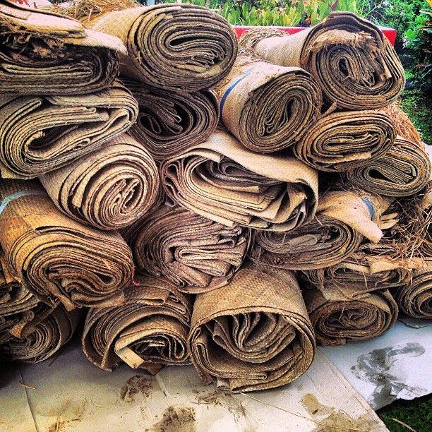 Pile of samoan mats.