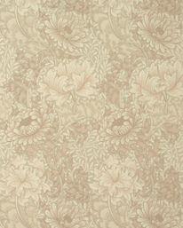 Chrysanthemum Ivory/Canvas från William Morris & Co