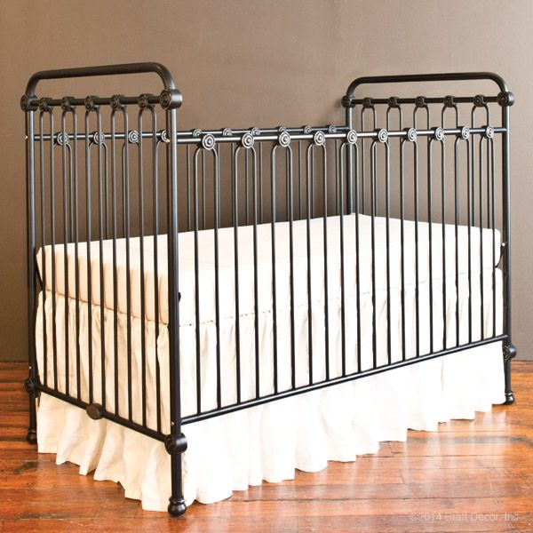 Bratt Decor's stunning  joy baby crib distressed black.  Shop www.brattdecor.com for luxury baby furniture in a wide variety of styles and price points.
