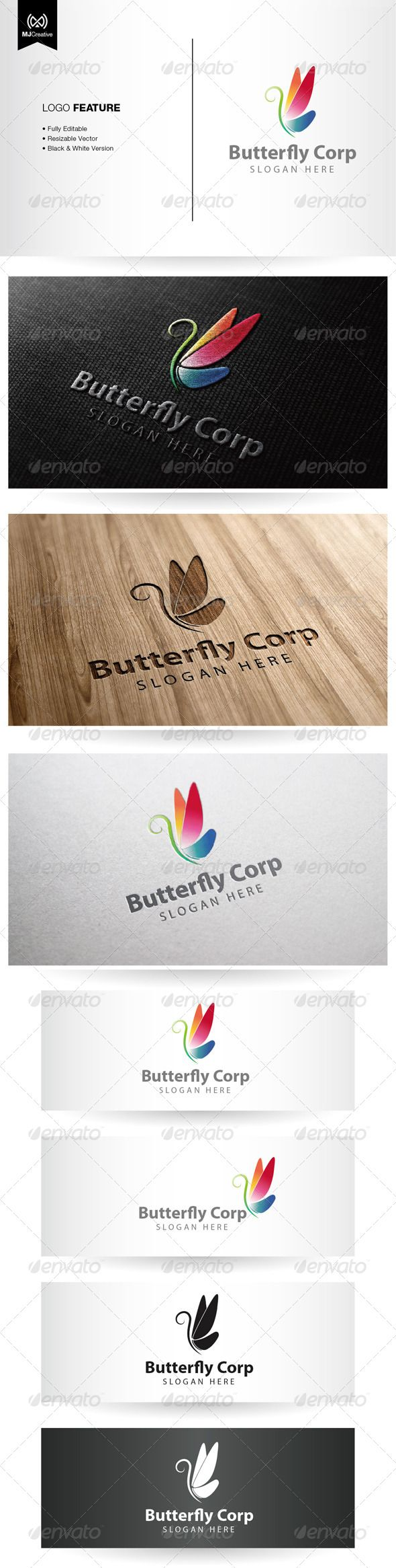 Logotype butterfly and letter b in different colour variants on a - Letter B Abstract Logo Colorful Logo Insect Modern Logo