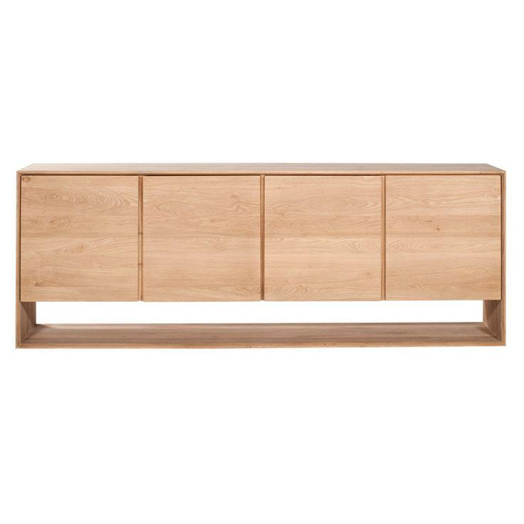 Oak Nordic Sideboard 4 Doors