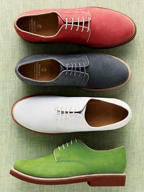 Add color to your wardrobe with Brooks Brother Classic Bucks. If these doesn't add spring in your steps...