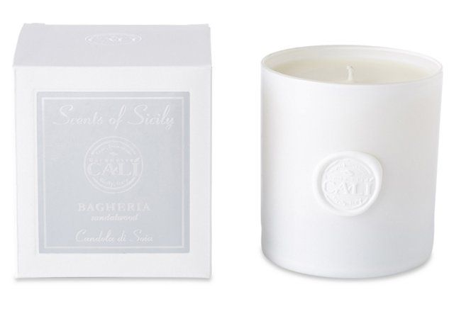 Bagheria  Sandalwood Candle, White