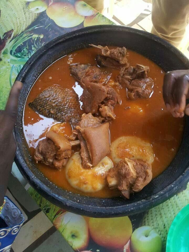 Fufu and light soup ghana food pinterest ghana meat for Authentic african cuisine from ghana