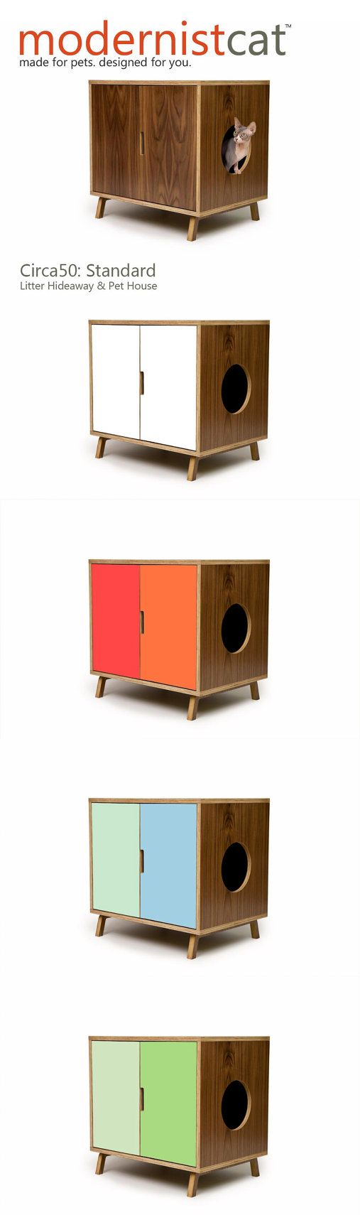 Mid Century Modern Pet Furniture // Dog House // by modernistcat, $599.00