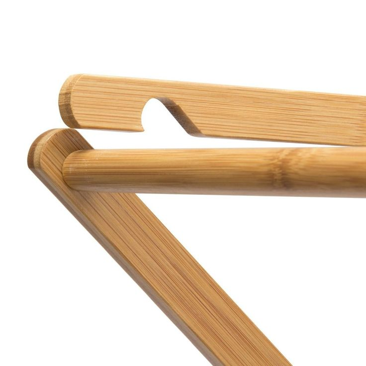 DRYING CLOTHES RACK - Household Essentials Bamboo - WOOD LAUNDRY FOLDING HANGER