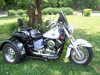 650 v star classic trike . 2002 V Star 650 Classic with a voyager trike kit.nice ride .