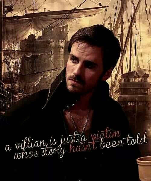 Once Upon A Time ~Hook I love Hook! He's a good guy with a bad past. #LOVEHook