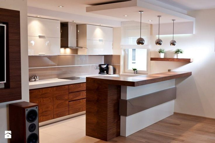 Mieszkanie Kraków realizacja - Średnia otwarta kuchnia w kształcie litery l w aneksie z wyspą, styl nowoczesny - zdjęcie od All Design Agnieszka Lorenc