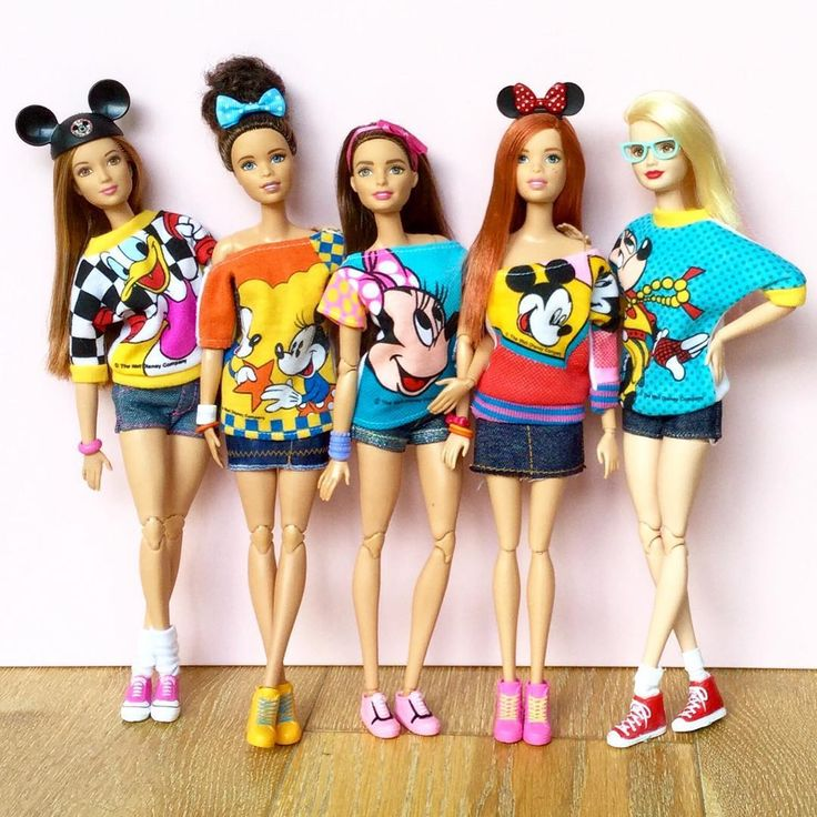 """""""Disney Barbie Girls by Emily Polak @emilypm3 #barbie #barbiedoll #barbiefashion…"""