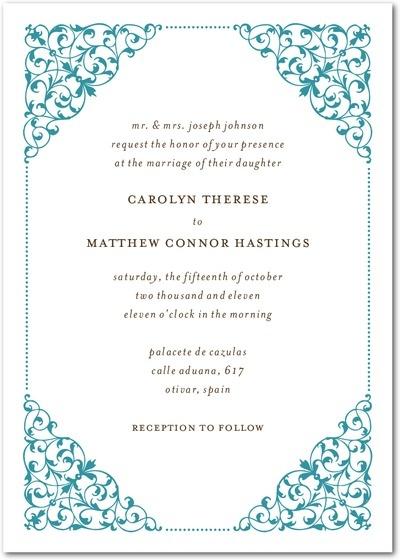 23 best clarinda wedding images on Pinterest Wedding stationary - marriage invitation letter format