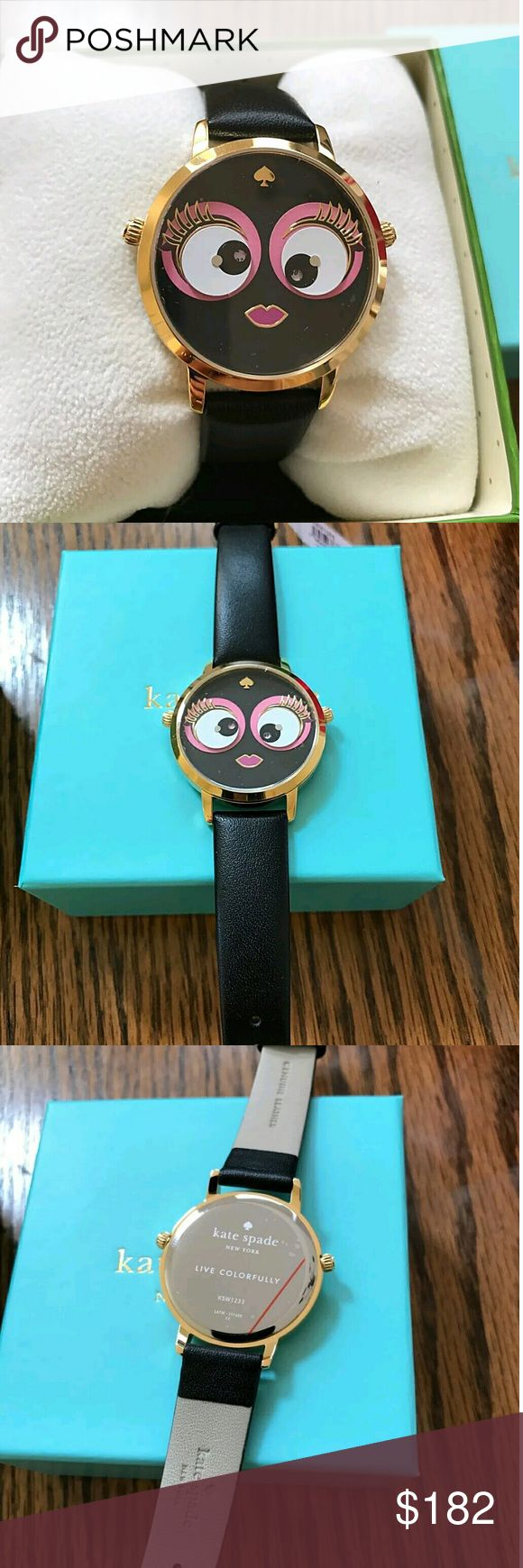 Brand NWT kate spade metro leather ladies watch Brand NWT kate spade metro leather ladies watch.    FRIM PRICE FIRM PRICE?  $182.00  . AUTHENTIC WATCH?  . AUTHENTIC BOX?  . AUTHENTIC MANUAL?    SHIPPING?  PLEASE ALLOW 3-4 BUSINESS DAYS FOR ME TO SHIPPED IT OFF.I HAVE TO GET IT FROM MY STORE.?   THANK YOU FOR YOUR UNDERSTANDING. Kate Spade Accessories Watches