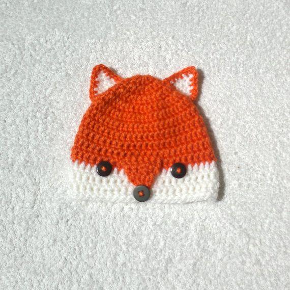 Fox hat baby fox hat crochet fox hat baby hat by KnitterPrincess, $14.50