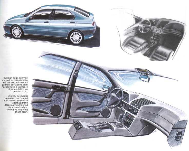 OG | 1995 Alfa Romeo 146 | Design sketches