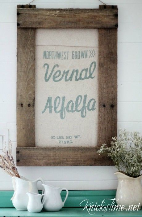 DIY Rustic Frame Seed Bag via KnickofTime.net                                                                                                                                                                                 More
