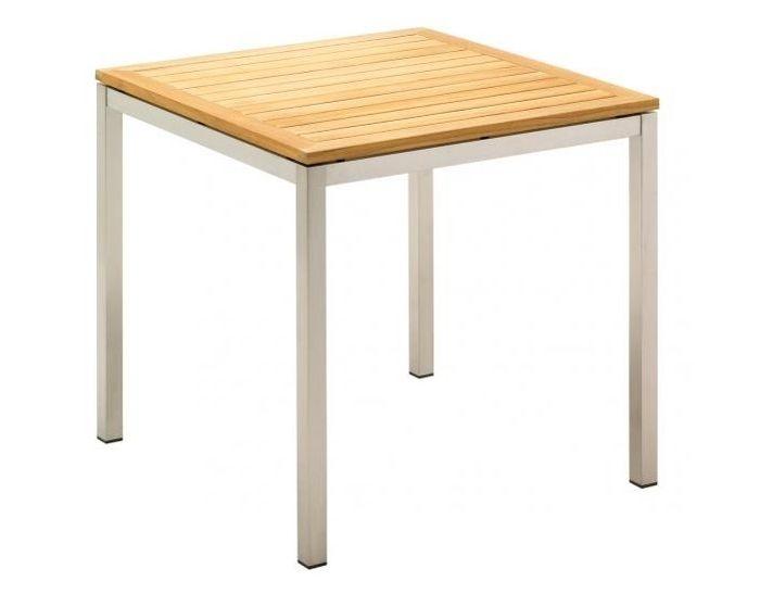 De Kore tafelcollectie van Gloster is ontworpen door Povl Eskildsen en kan door de hele Gloster collectie gecombineerd worden met diverse stoelen. Het stoere RVS frame wordt voorzien van een blad dat gekozen kan worden in teakhout of veiligheidsglas. Een prachtige universele tafel dat een mooie basis zal zijn op je terras en garant staat voor jarenlang outdoor tafelen.