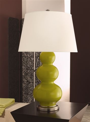 One Light Green Table Lamp :